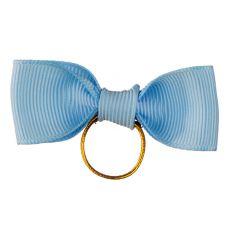 Papion pentru caini - albastru deschis 6 cm