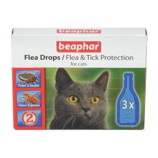 Picături pentru pisici împotriva puricilor și căpușelor - 3 buc.