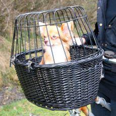 Coș portabil pentru bicicletă, cu grilaj, pentru câini 49,5 x 35 x 26 cm