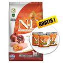 Farmina N&D GF PUMPKIN  adult dog medium/maxi, chiken & pomegranate - 12kg + CADOU