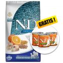 Farmina N&D dog OCEAN Adult Medium & Maxi Codfish and Orange 12 kg + CADOU