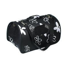 Transportator pentru câini și pisici, negru 37 x 22 x 20 cm