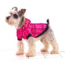 Jacheta cadrilata pentru caini  – roz, S