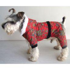 Overal câine- roşu cu model floral