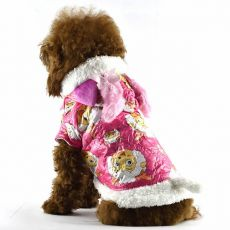 jacheta caine - roz, cu model berbec animat, L
