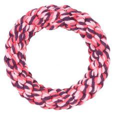 cerc din bumbac pentru câini,  roz - 14 cm