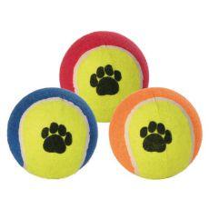 Minge tenis pentru câini- colorată, 10 cm