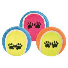 Minge tenis pentru câini- colorată, 6 cm