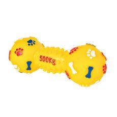 Jucărie pentru câini- ganteră din vinilin, 19 cm