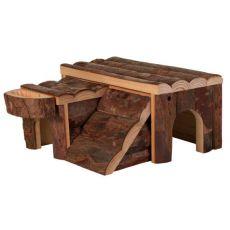 Căsuţă de rozător din lemn, 14 x 7 x 14 cm