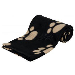 Pătură pentru câini și pisici - cu lăbuțe de culoare bej, 150 x 100 cm