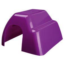 Casă din plastic pentru rozător - colorată, 14 x 9 x 16 cm