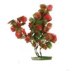 Planta pentru acvariu - plastic, 17 cm frunze roşu-verzui