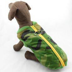 Jachetă pentru câinii de talie mare – flexibilă, din material de camuflaj, L-XS