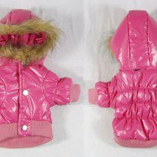 Jachetă pentru câine, cu glugă – roz, XL
