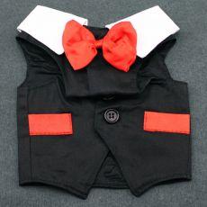 Costumaș pentru câine - negru/roșu, M