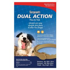 Zgardă antiparazitară pentru câini talia medie, Sergeant´s - 60 cm