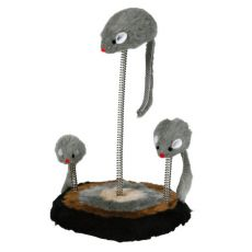 Jucărie pentru pisici - șoareci montate pe arcuri 15x22cm