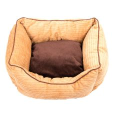 Culcuș de câine - maro, S - 50 x 40 x 18 cm