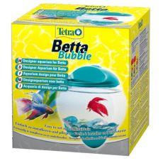 Acvariu sferic pentru peşti Betta 1.8 L - turcoaz