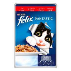 Hrană Felix  - cu carne de bovin în jeleu, 100 g