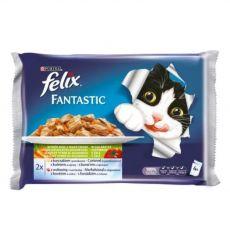Hrană FELIX în pungă de aluminiu - pește cu legume în jeleu, 400 g