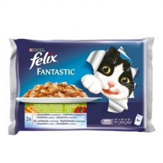 FELIX hrană pentru pisici în ambalaj de aluminiu - carne și legume în jeleu, 400 g