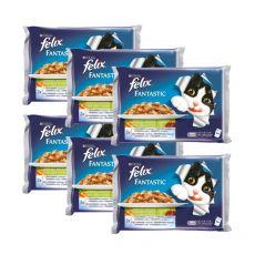 FELIX - Hrană în pungi de aluminiu, carne și legume 6 x 400 g