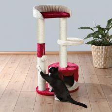 Ansamblu sisal pentru pisici PILAR - bej-roșu, 100 cm