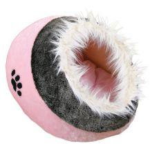 Culcuș de culoare roz pentu câini și pisici - 35x26x41cm