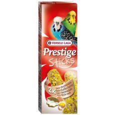Bastonașe pentru peruși PRESTIGE STICKS 2 bucăți - scoici și ouă, 60g
