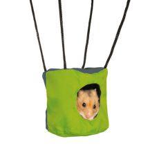Adăpost pentru rozătoare mici cu folie cu foşnet - 10 x 9 cm