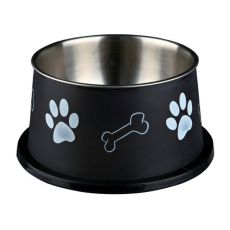 Castron pentru câini cu urechi lungi, negru - 0,9 L