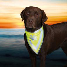 Eşarfă reflectorizantă pentru câini, cu imprimeu- mărimea S-M