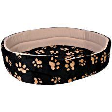 Charly, pat pentru câini și pisici, culoare negru-bej - 50x43cm
