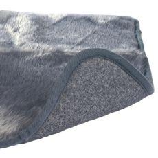 Covoraș pentru câini încălzit electric, de culoare gri - 75 x 70 cm