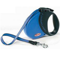 Lesă Flexi Comfort Compact 2, pentru câini de până la 25kg - lungime coardă 5m, culoare bleumarin