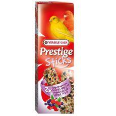 Bastonașe pentru canari Prestige Sticks 2 bucăți - fructe de pădure, 60g