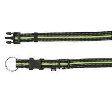 zgardă din nylon pentru câini, verde şi negru, S-M