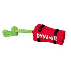Jucărie din latex câine- dinamintă pe funie, 22 cm