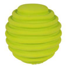 Jucărie din latex- minge cu şanţuri, 6cm