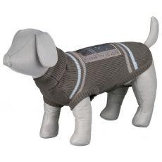 Pulover pentru câini, cu guler polo și aplicație - S / 46 cm