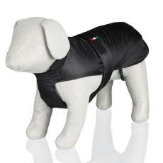 Jachetă pentru câini, cu guler, culoare neagră - L / 39-71 cm
