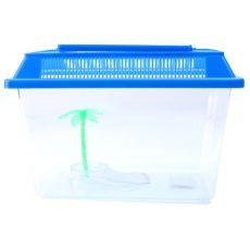 Műanyag akvárium pálmafával - 21x14x14cm
