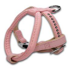 Ham pentru câine cu pietre încrustate, roz - 1,5x25x30cm