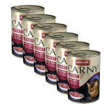CARNY ADULT Hrană cu inimă de bovin - 6 x 400 g