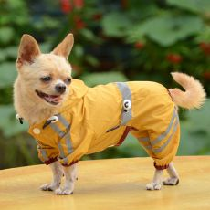 Impermeabil reflectorizant pentru câine – galben intens, XS