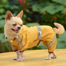 Impermeabil reflectorizant pentru câine – galben intens, S