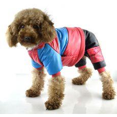 Jachetă pentru câine – roz și albastru, XS