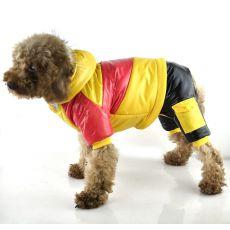 Jachetă pentru câini – roz cu galben, XS